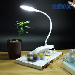 14 LED Table lamp with Clip USB LED Desk Night Light Adjusta