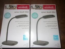 2 Sunbeam LED Desk Lamps Black/white Flexible Neck Adjustabl