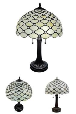 26 In. Tiffany Style Jeweled Table Desk Banker Lamp