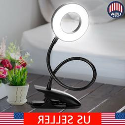 360° Rotate Dimmable Flexible USB Clip-On Desk Table Readin