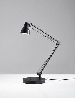 "Adesso 3780-01 Quest 16""-26"" Led Desk Lamp, Black"