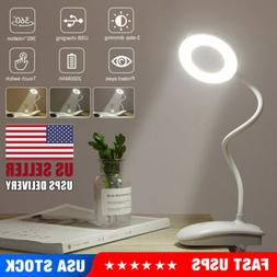 5W USB Clip-On Desk Lamp 18 LEDS Flexible Reading light Dimm