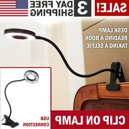 LED Desk Light Bedside Reading Lamp Dimmable Rechargeable Ta