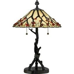 Agate Portable Whispering Wood Table Lamp in Valiant Bronze