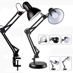 Architect Desk Lamp Swing Arm Drafting Light W/ Metal Clamp