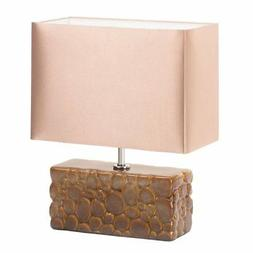 Bedside Table Lamps, Small Rustic Ceramic Home Office Desk L