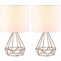 CO-Z Table Lamps Modern For Living Room Bedroom Set Of 2, Ro
