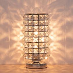 Crystal Table Lamp for Bedside Nightstand Desk Reading Lamp