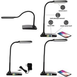 IVY LED Desk Lamp with built-in USB charger in Black or Whit