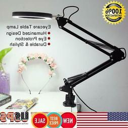 Desk Lamp Flexible Swing Arm Clamp Mount Table Light Reading