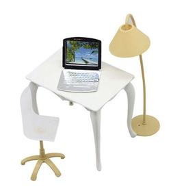 DESK LAPTOP LAMP CHAIR FURNITURE ACCESSORIES FOR DOLLHOUSE K