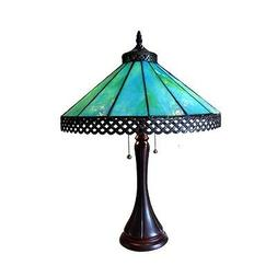 """Mission Tiffany Style Stained Glass Table Lamp 16"""" Shade 23"""""""