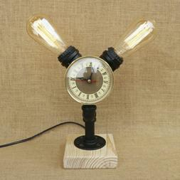 Industrial Vintage Accent Watch Clock Water Pipe Office Desk