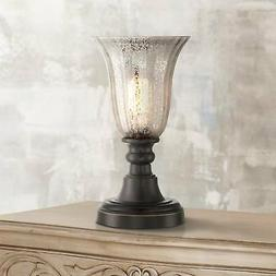 """Isaac Mercury Glass 13"""" High Accent Table Lamp"""