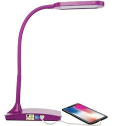 TW Lighting IVY-40 The IVY LED Desk Lamp with USB Port,3-Way