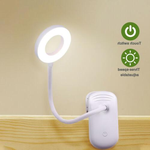 5W USB Clip-On Lamp 18 LEDS Reading Dimmable Table Lamps USA