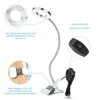 7W LED Home Table Clip One-click Button