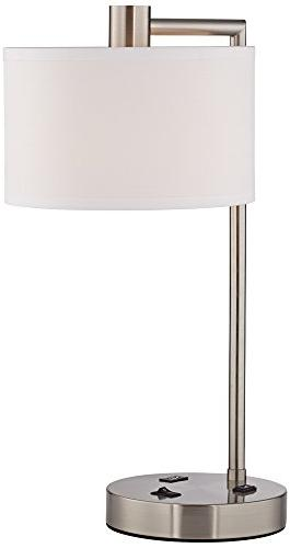 Colby Brushed Nickel Lamp Outlet and USB