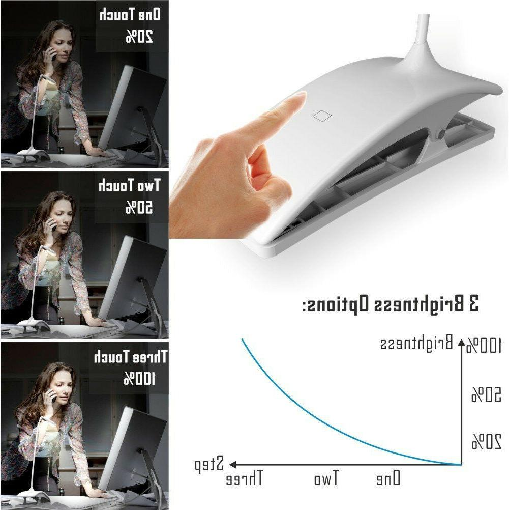 Desk Light for Reading Bedside Piano Touch Dimmable
