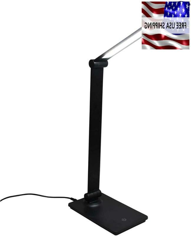 Desk Lamp With Usb Charging Black Touch Control Eye
