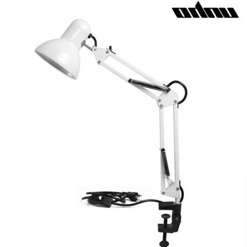 Architect Lamp Swing Arm Metal Clamp Vintage Office