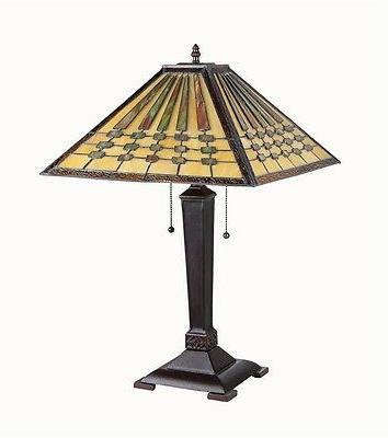 Mission Stained Arts & Crafts Design Tiffany Table Desk Lamp
