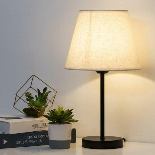 Nightstand Lamps Set of 2 with Bedside Bedroom