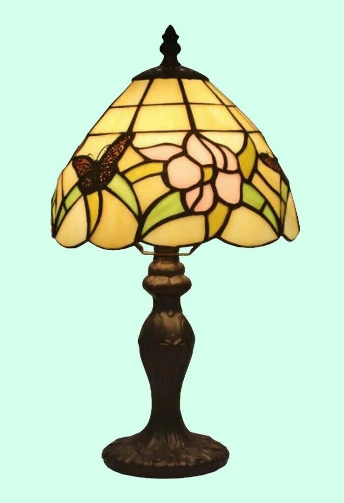 small stained glass table lamp tiffany style