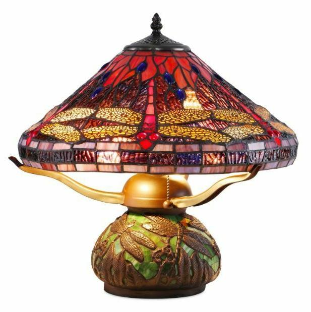 tiffany style lamp table light reading stained