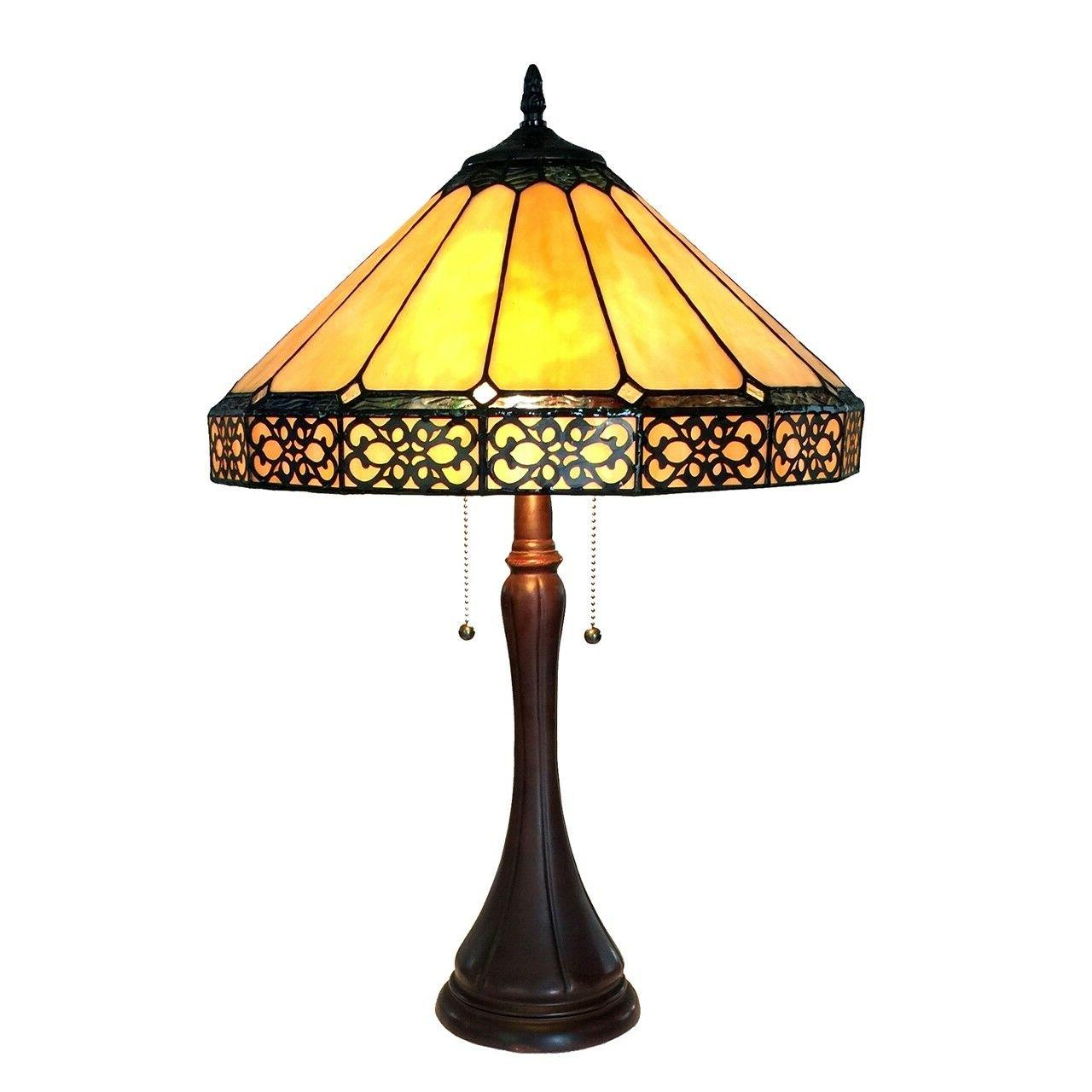"""Tiffany Style & Crafts Stained 23"""" Table Lamp 16"""" Shade"""