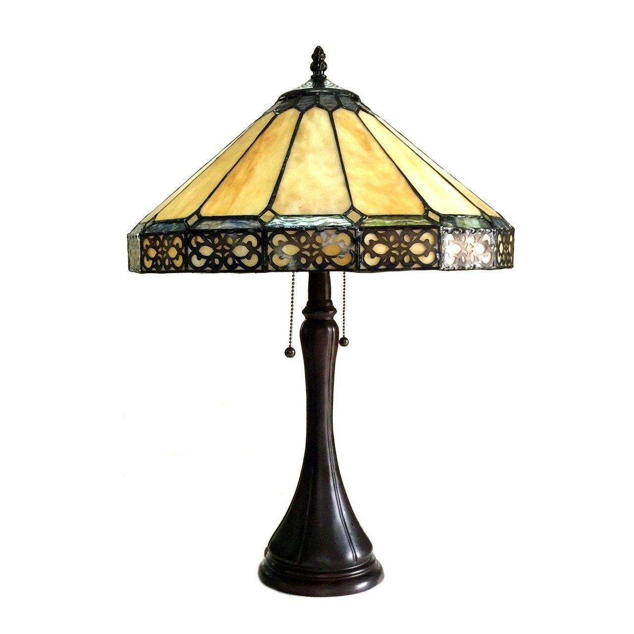 """Tiffany Style & Crafts Stained 23"""" Desk Lamp 16"""" Shade"""