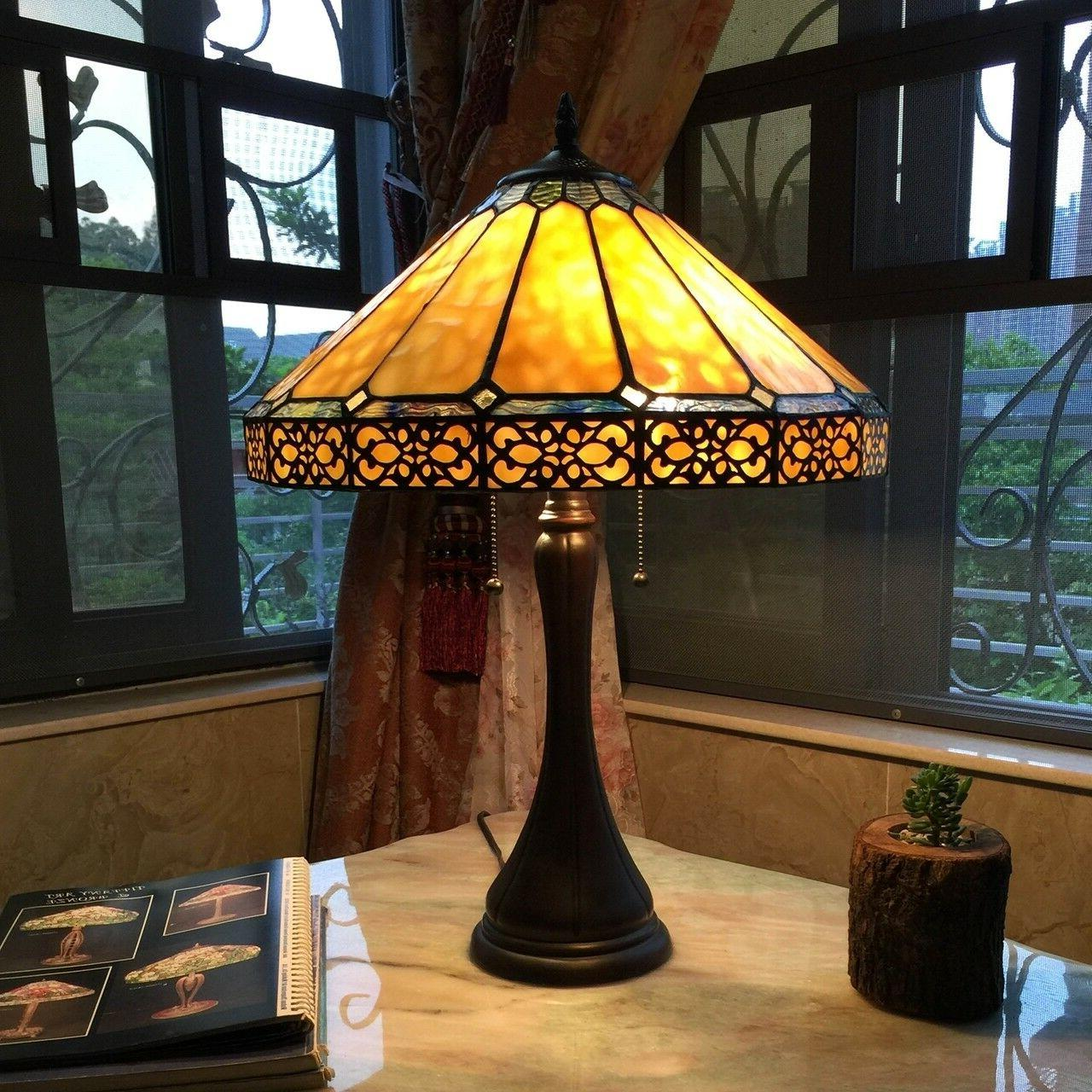 tiffany style mission arts and crafts stained