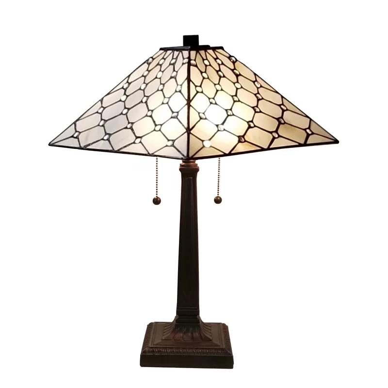 tiffany style stained glass desk lamp 14