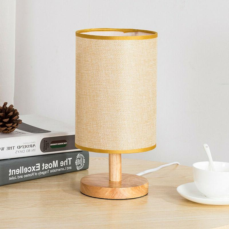 Wood Table Lamp Desk Kids College Dorm