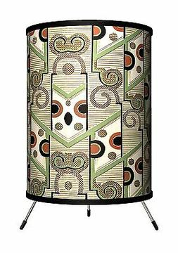 Lamp-In-A-Box Décor Art - Design with Green Tripod Lamp lig