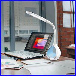 OttLite LED Color Changing Tunnel Desk Lamp with 2.1A USB Po