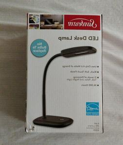 SUNBEAM LED DESK LAMP ADJUSTABLE NECK LIGHT ENERGY STAR BLAC