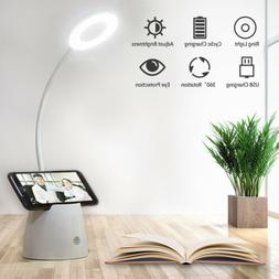 Flexible LED Reading Desk Lamp Dimmable Rechargeable Touch C