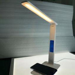 LED Desk Lamp Touch Dimmable Table Reading Light Foldable US