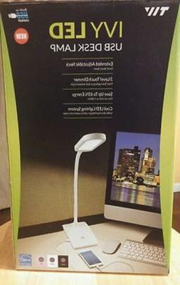 IVY LED Desk Lamp with built-in USB charger Home/Office Blac