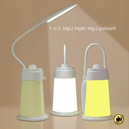 Led Desk Lamp With Usb Charging Port Book Light Rechargeable