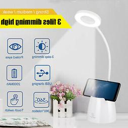 LED Dimmable 3 Color Modes Touch Sensor Desk Lamp Table Ligh