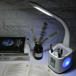 LED Study Table Lamp USB Charging Desk Lamp With Pen Holder