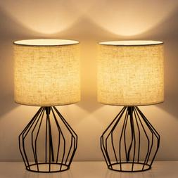 Modern Set of 2 Farmhouse Lamps Table/Desk/Beside Lamps Bedr