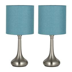 Modern Set of 2 Table Desk Lamps Beside Nightstand Bedroom L