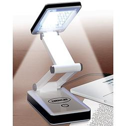 Portable LED Lamp Folds Flat Extends to 13 Inches 3 Levels o