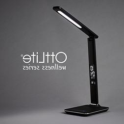 OttLite Renew LED Desk Lamp with Touch Dimmer and USB Chargi