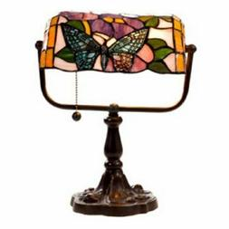 Tiffany Banker Desk Lamp Cut Glass Electric Office Piano Ant