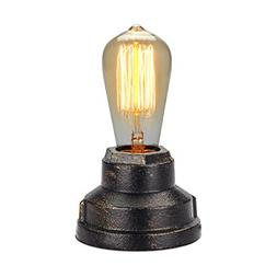 Touch Control Table Lamp Vintage Desk SMALL Industrial BLACK