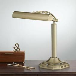 """Traditional Piano Banker Desk Table Lamp 18"""" LED Adjustable"""